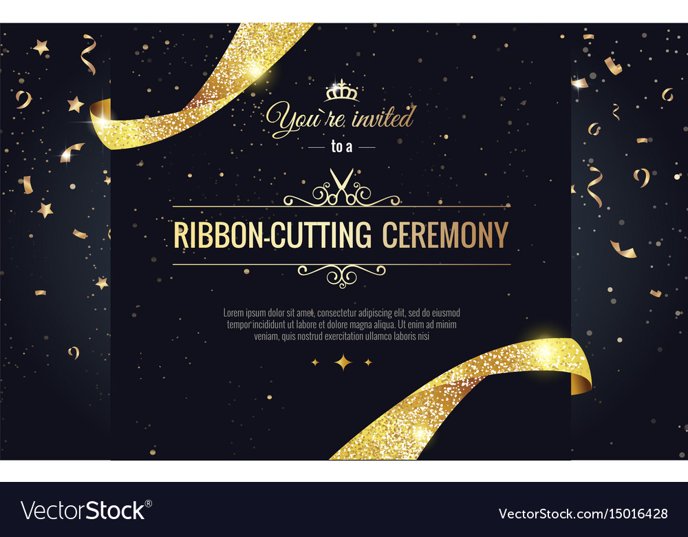 Grand opening sparkling banner vector image