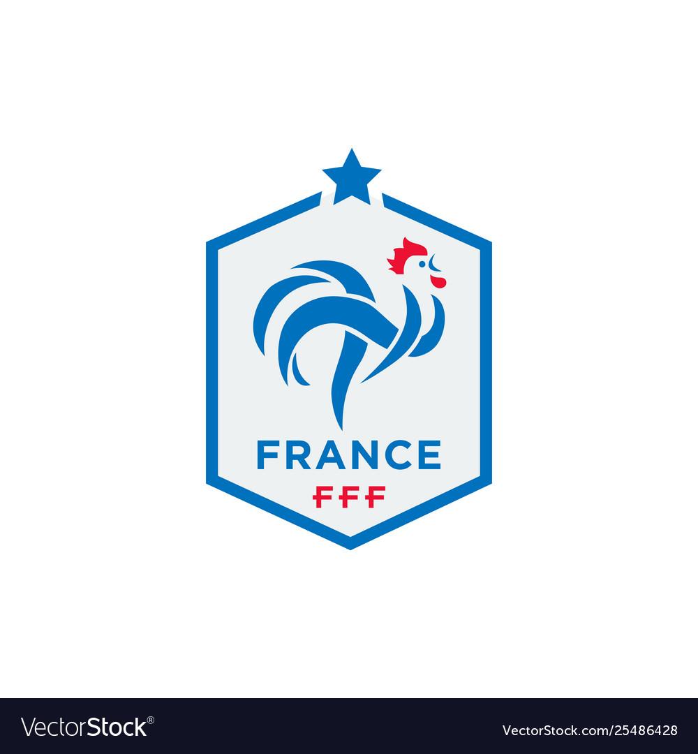 22309eade Official logo france football federation Vector Image