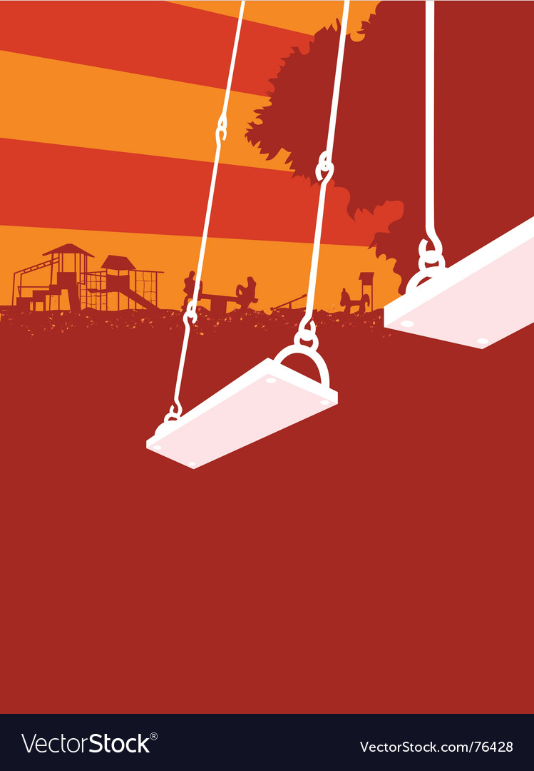Playground sunset vector image