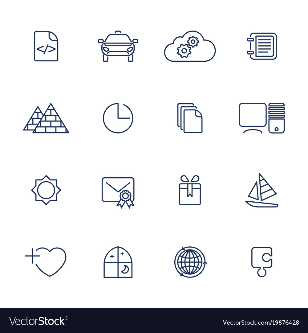 Simple ui icons for app sites programs