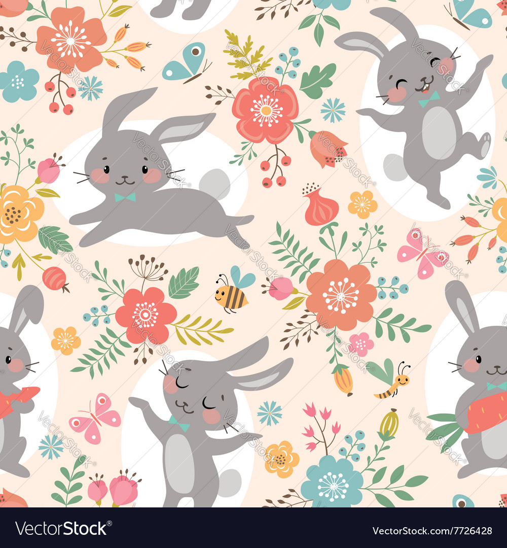 Spring rabbits pattern
