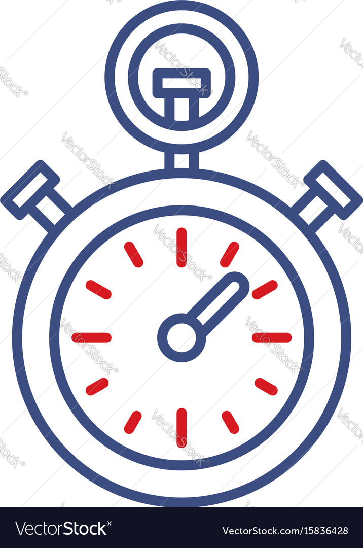 Timer clock line icon sport championship