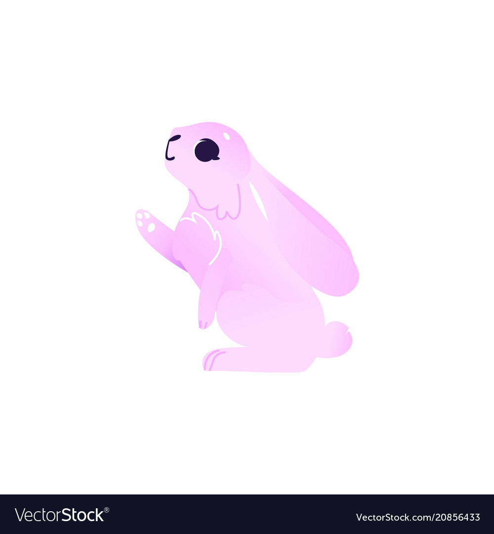 Cartoon pink rabbit hare animal