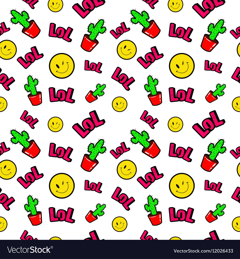 Fashion Seamless Comic Style Background vector image