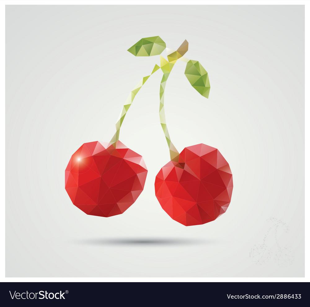 Geometric polygonal fruit triangles cherries