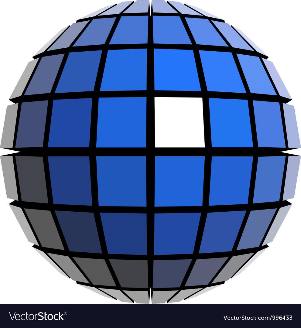 Global sphere vector image