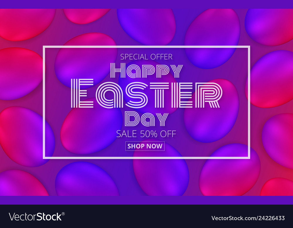 Happy easter day promotion banner