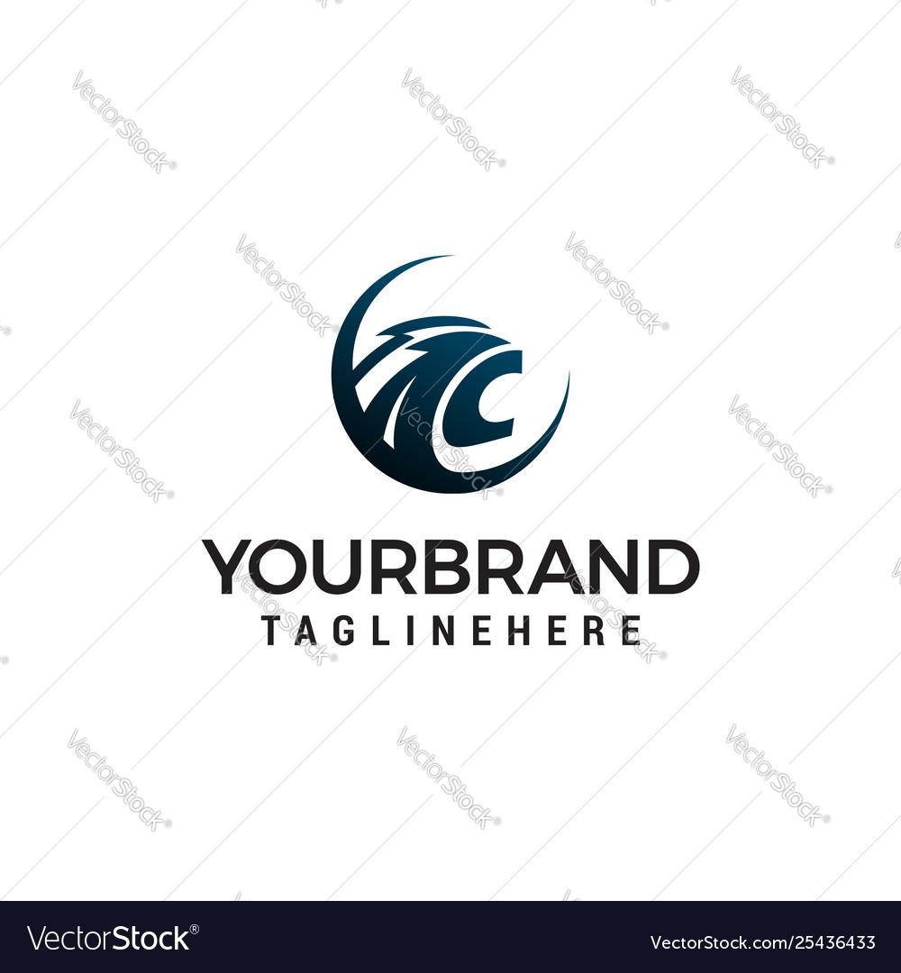 Head panther logo design concept template