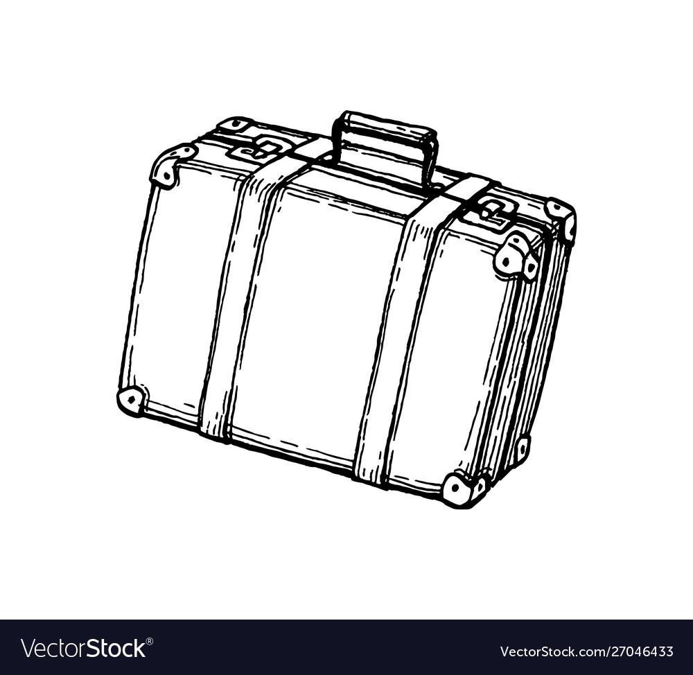Ink sketch suitcase