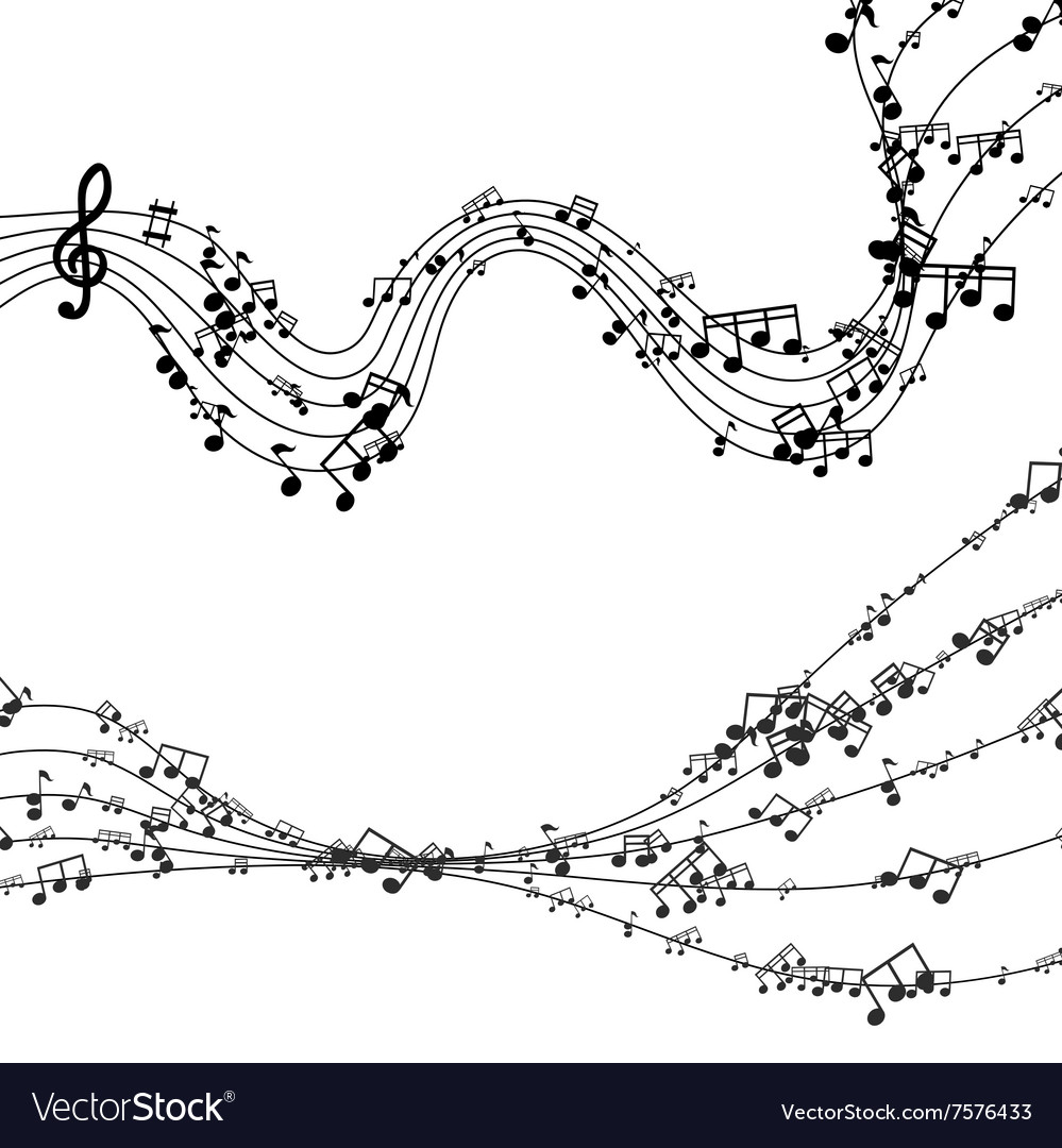 Modern black music background design