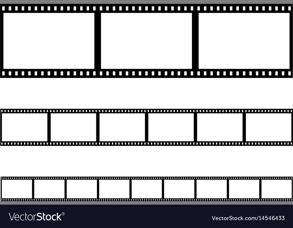 Seamless film strip filmstrip vector image