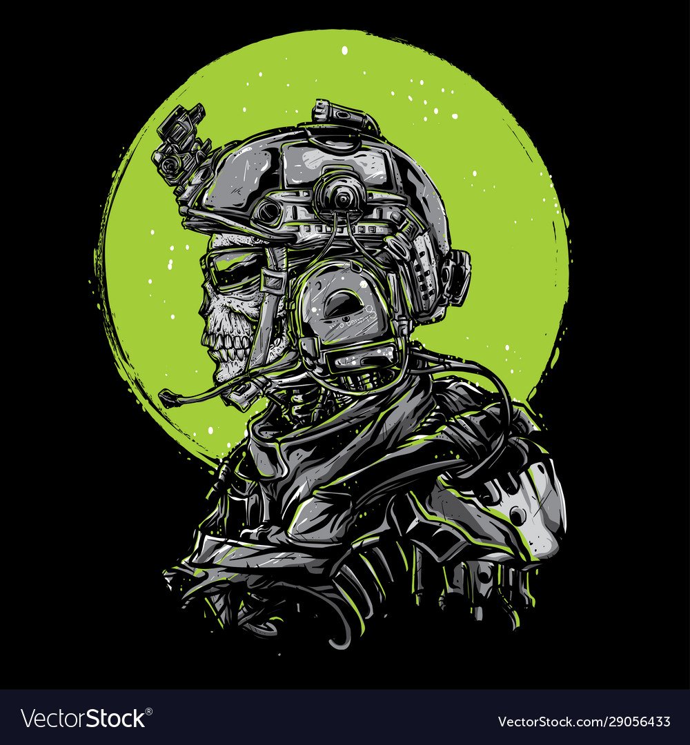 skull army royalty free vector image vectorstock vectorstock