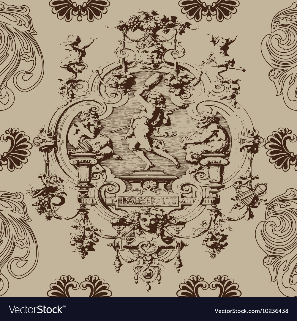 Baroque antique seamless pattern background