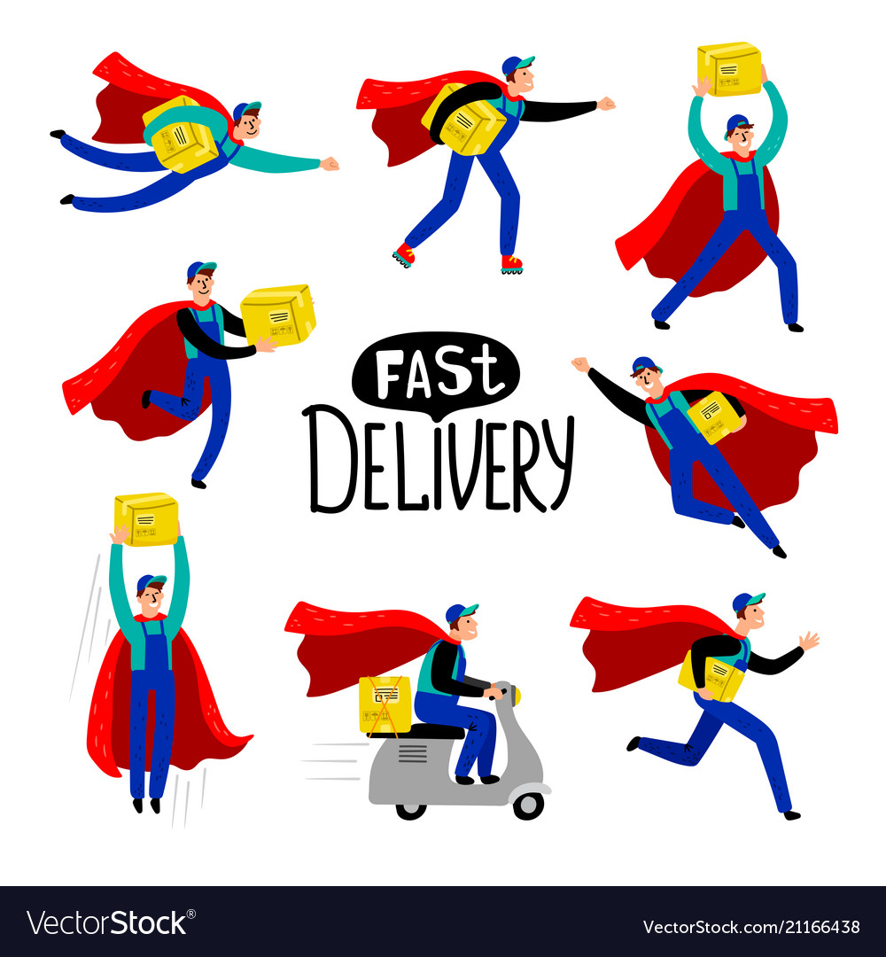 Delivery courier character
