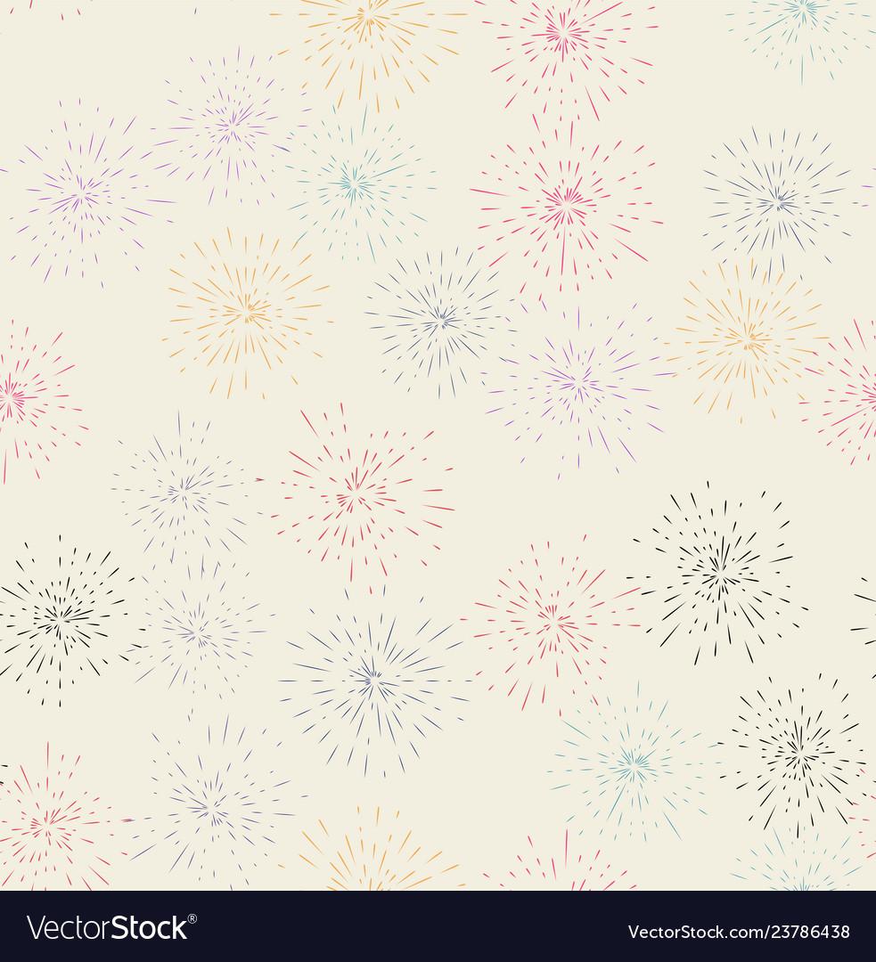 Fireworks display seamless background