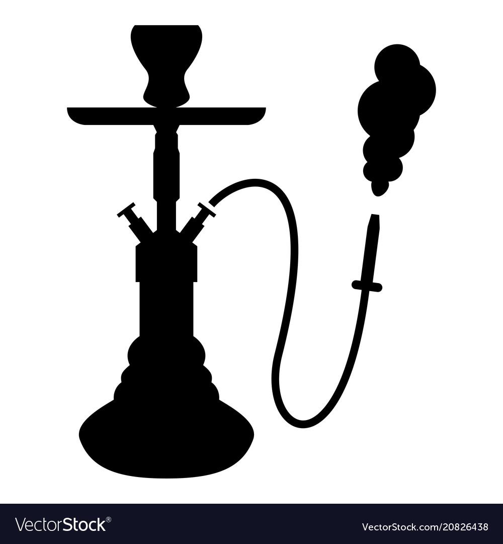 hookah shisha icon black color flat style simple vector image rh vectorstock com hookah vector eps hookah vector free download
