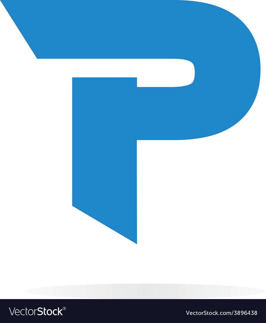 Logo P letter for company design template