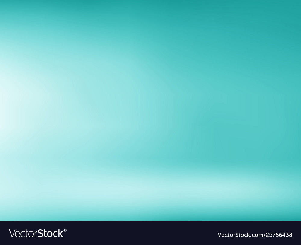 Studio room green mint background with soft