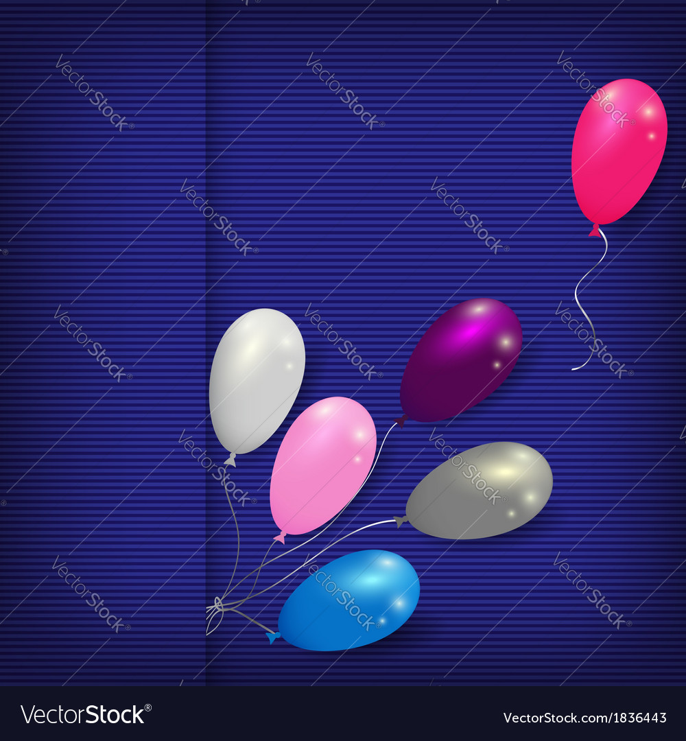 balloons striped card template vector image