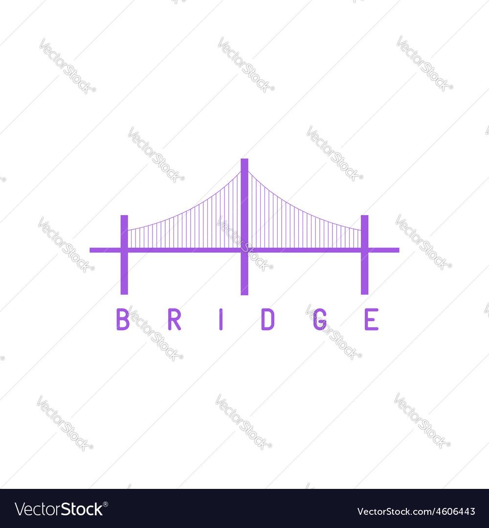 Bridge purple logo architecture concept icon