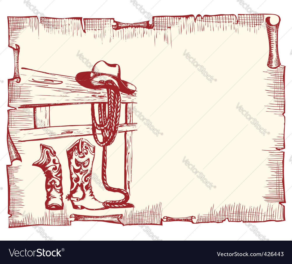 cowboy clothes vector 426443 cowboy clothes royalty free vector image vectorstock