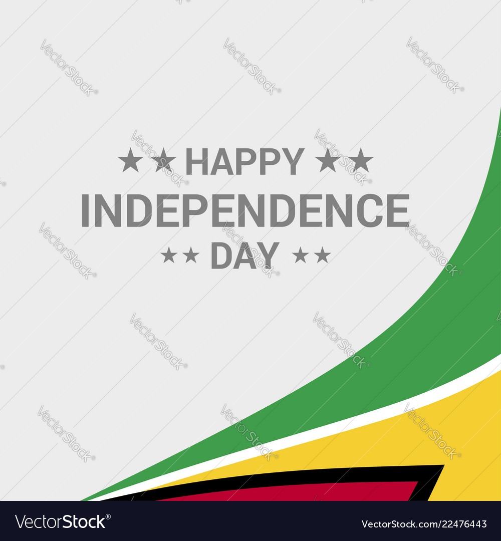 Guyana independence day typographic design with vector image on VectorStock