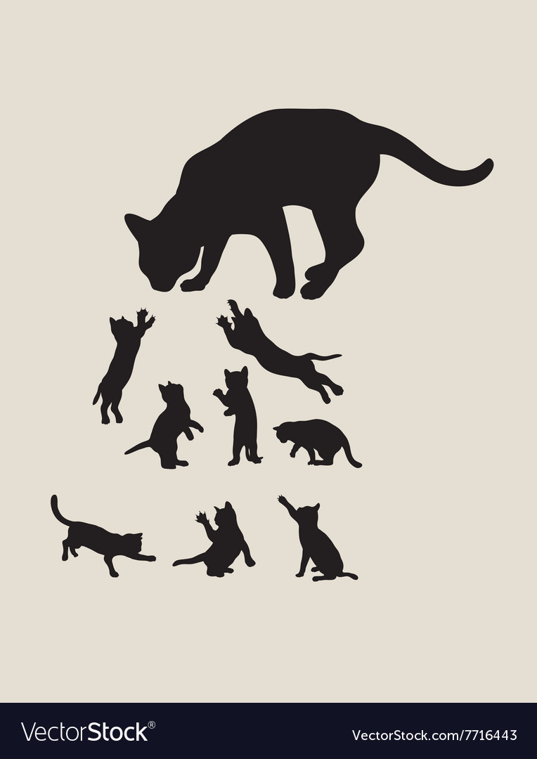 Hungry Cat Silhouettes