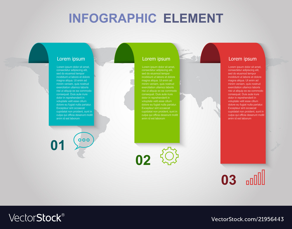 Infographic elements template on gray background