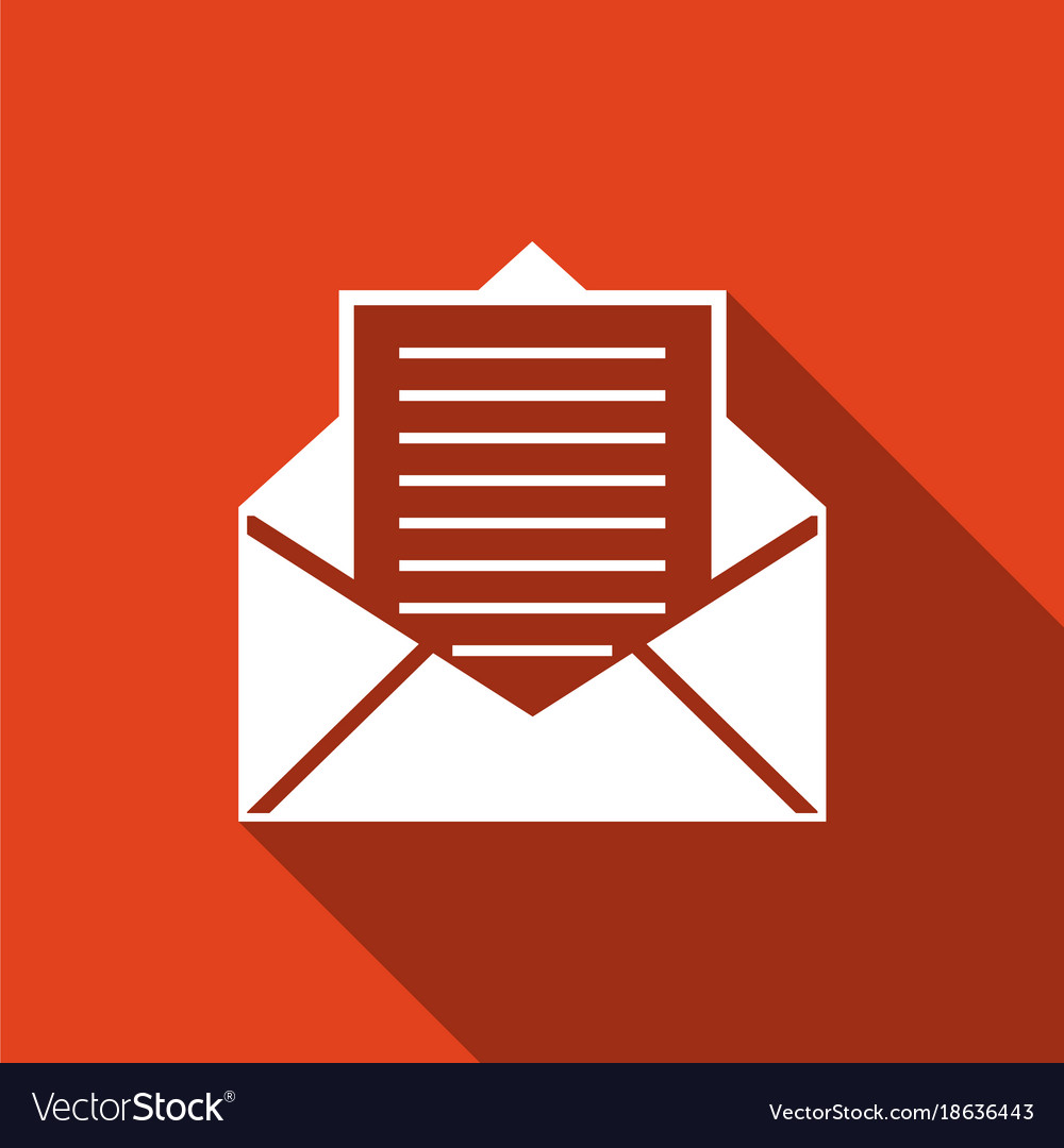 mail and e mail icon envelope symbol e mail vector image