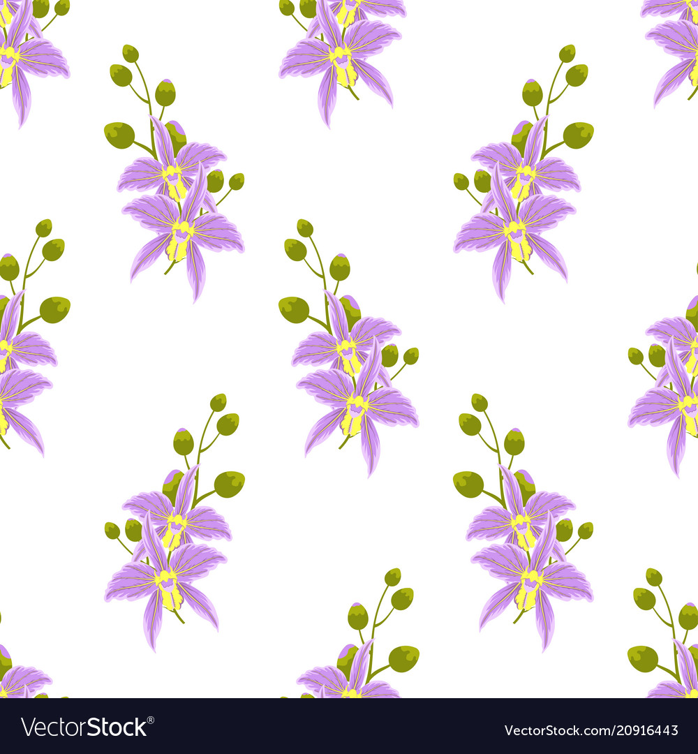 Pattern with orchids