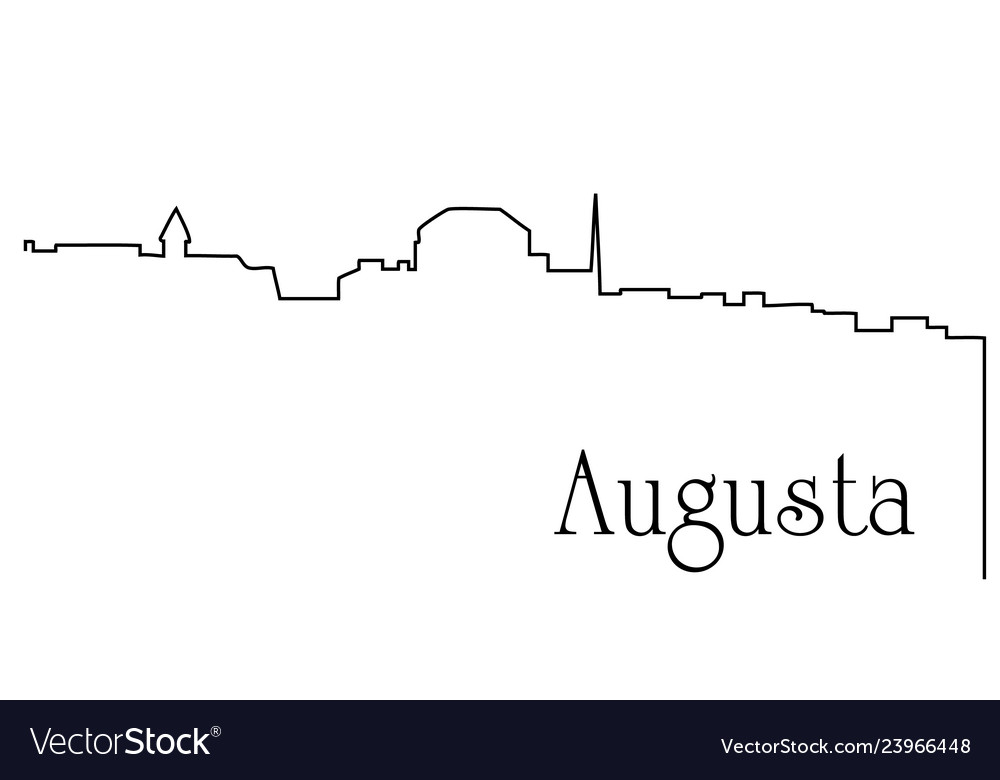 Augusta city one line drawing