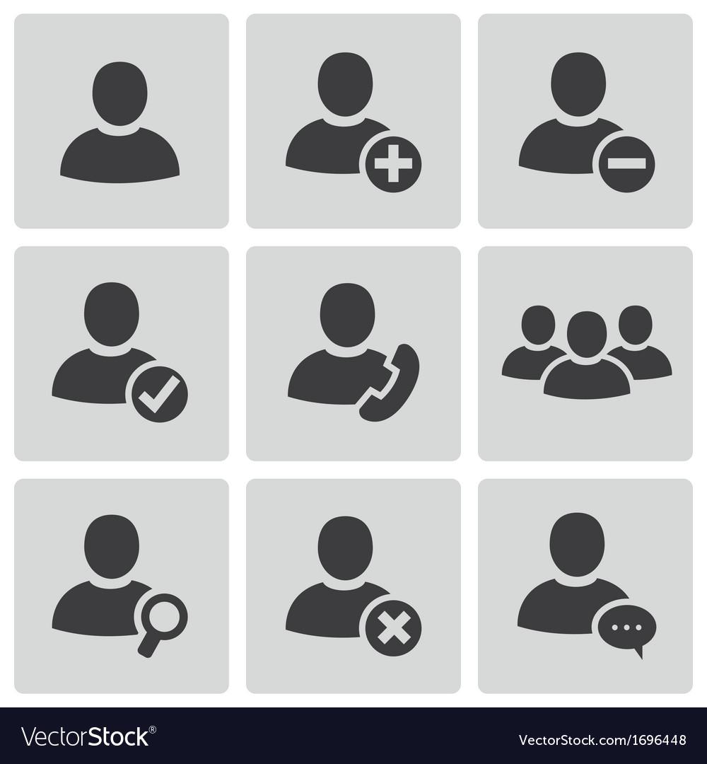 Black people icons set