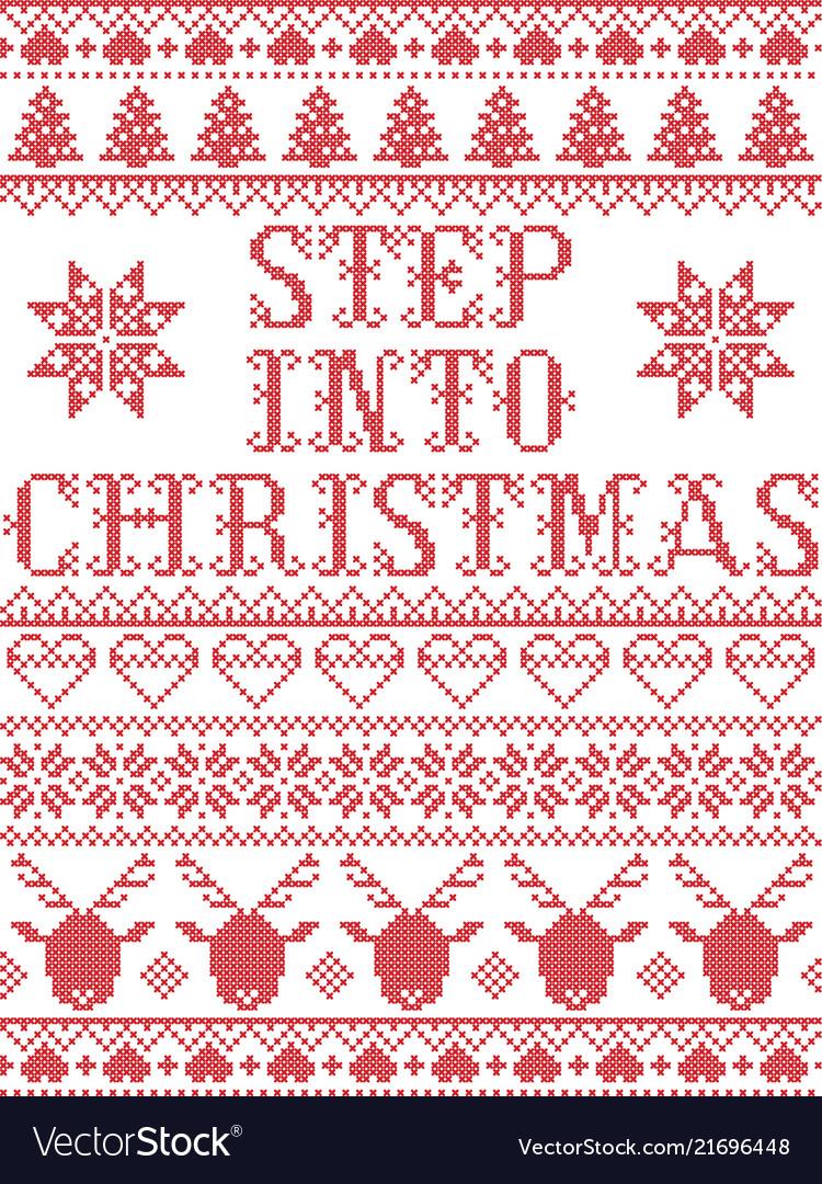 Step Into Christmas.Christmas Pattern Step Into Christmas Carol