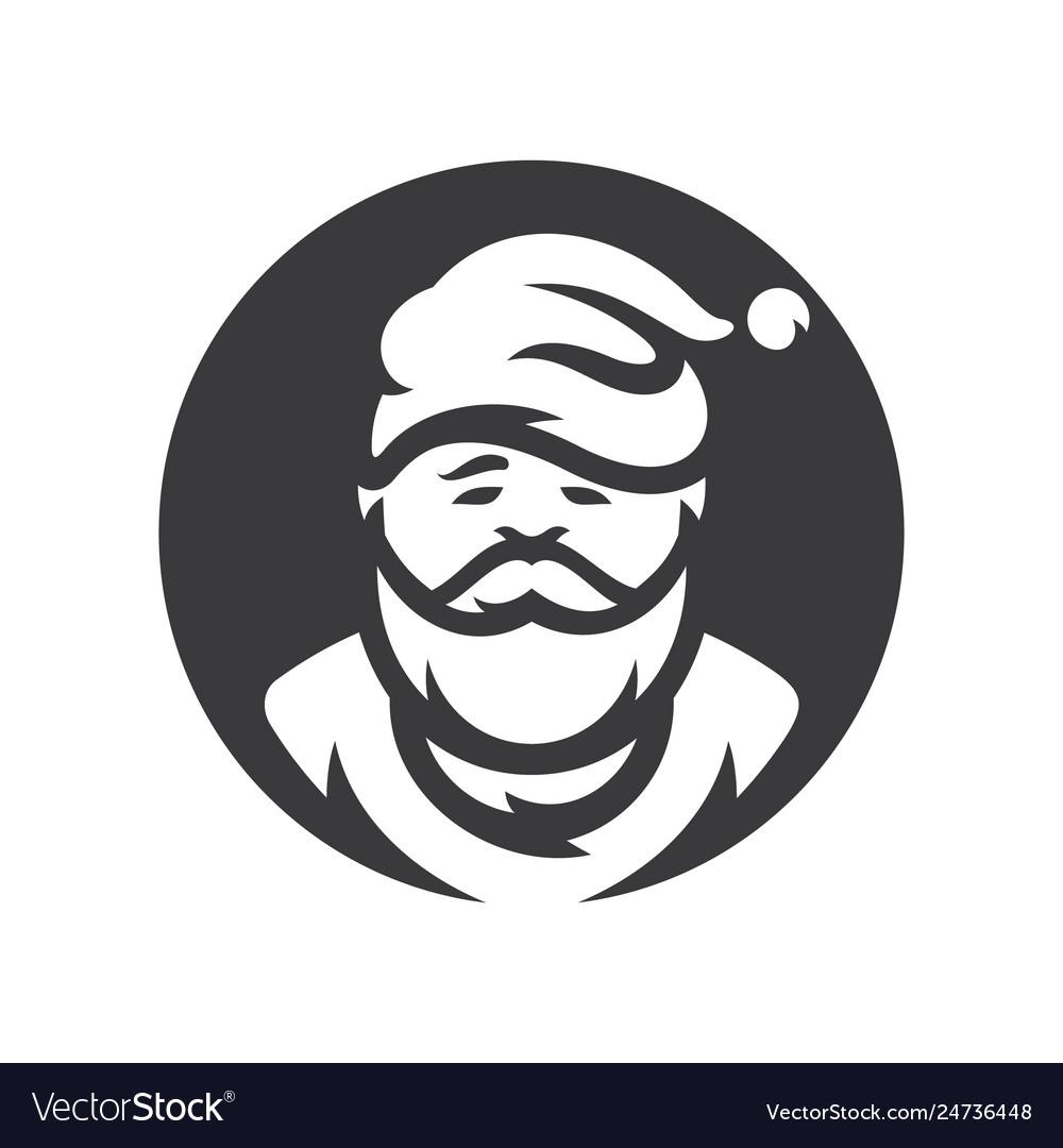 Christmas santa claus silhouette sign