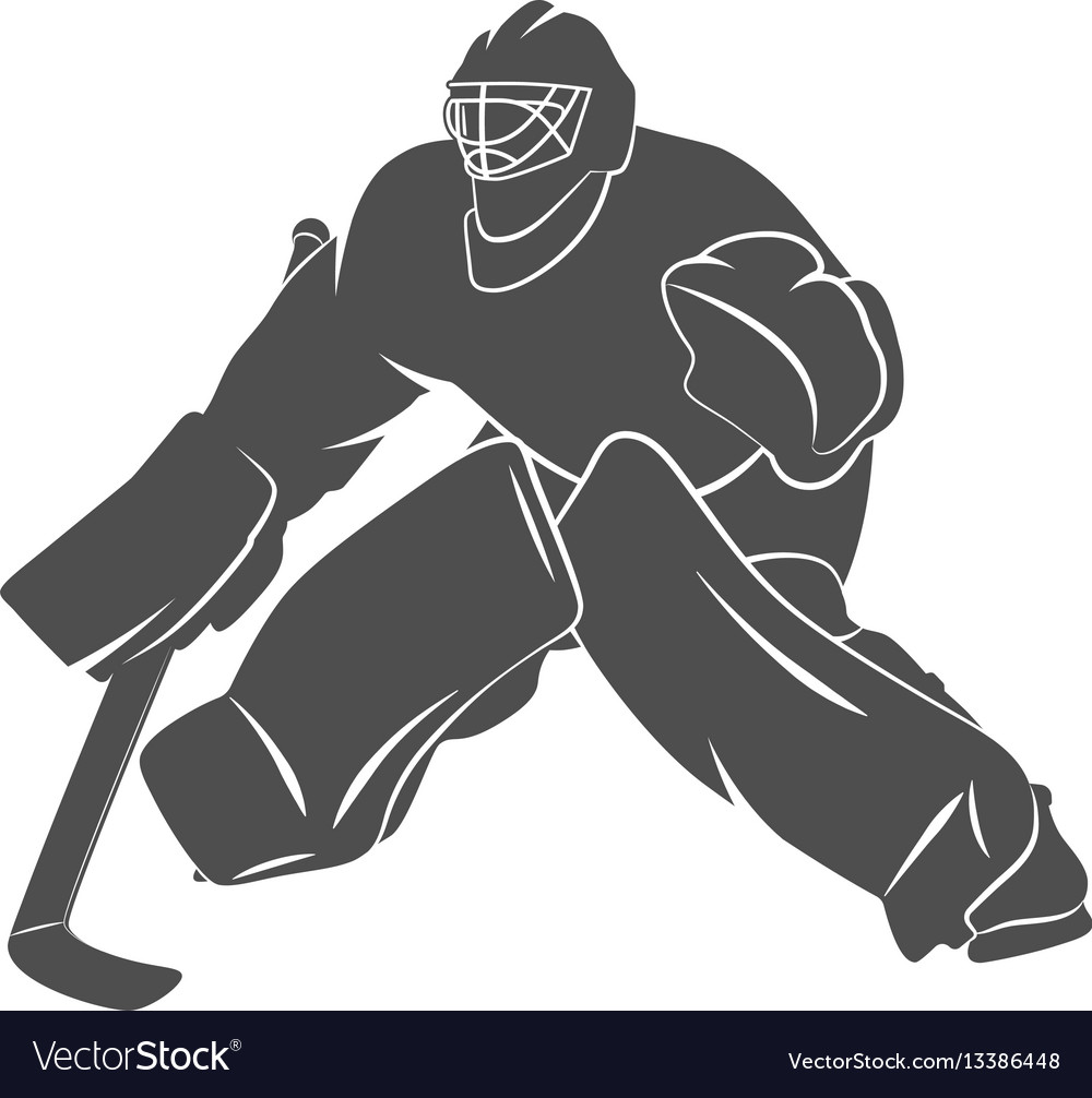Player Hockey Goalie Royalty Free Vector Image