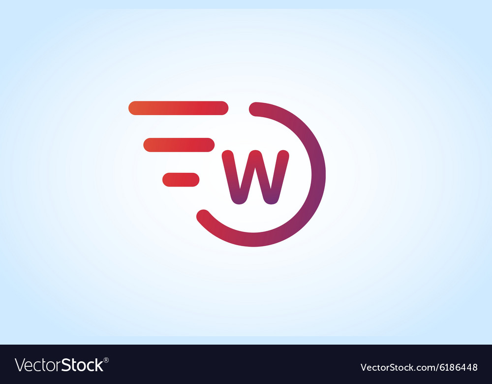 W letter logo monogram icon