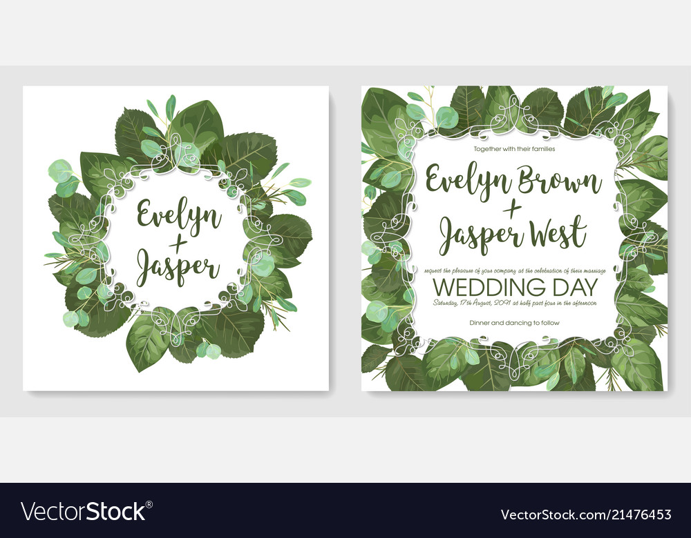 Beautiful set of romantic spring cards banner