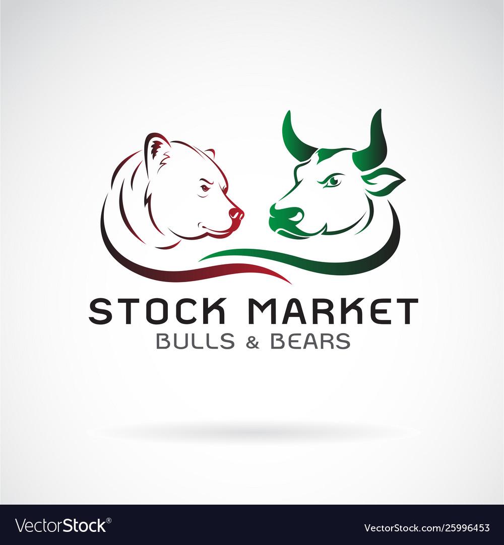 Bull and bear symbols stock market trends