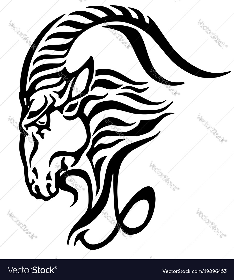 Capricorn head logo