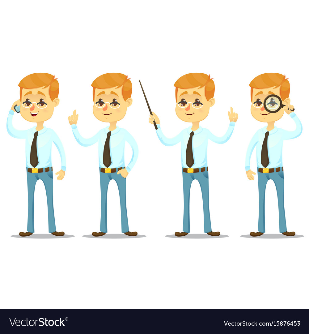 Funny cartoon guy with vector image