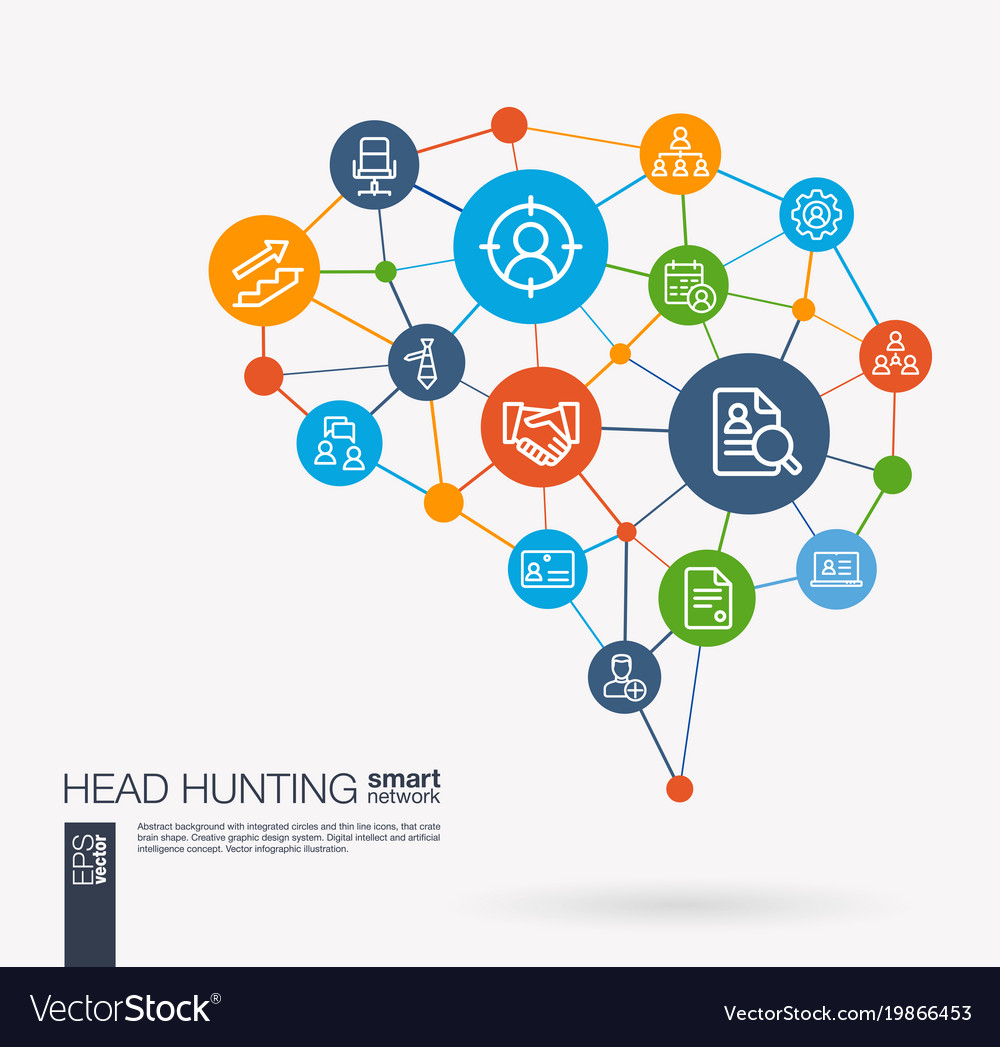 Job search head hunting we are hiring team work vector image