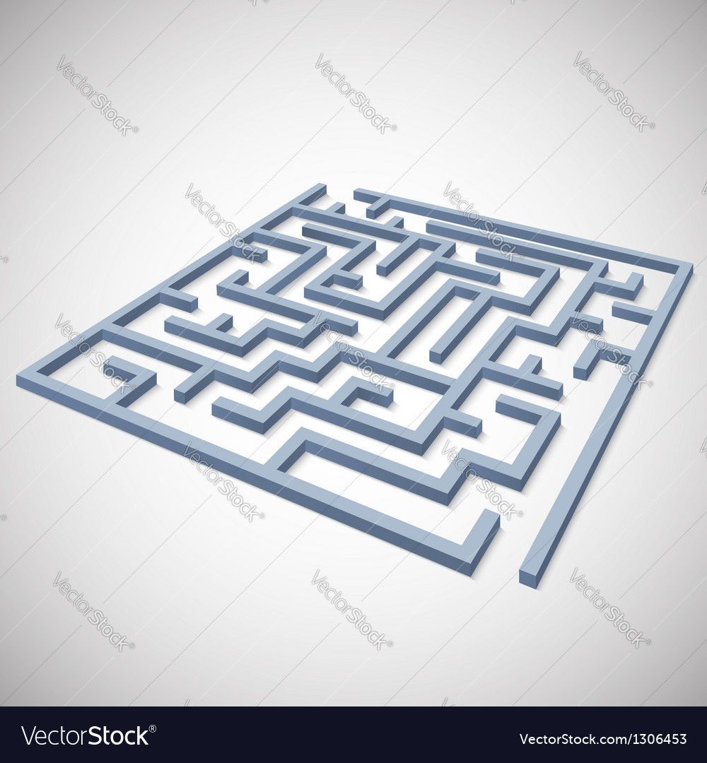Maze concept for your business presentation