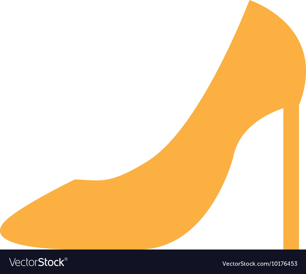 Shoe elegant female icon vector image