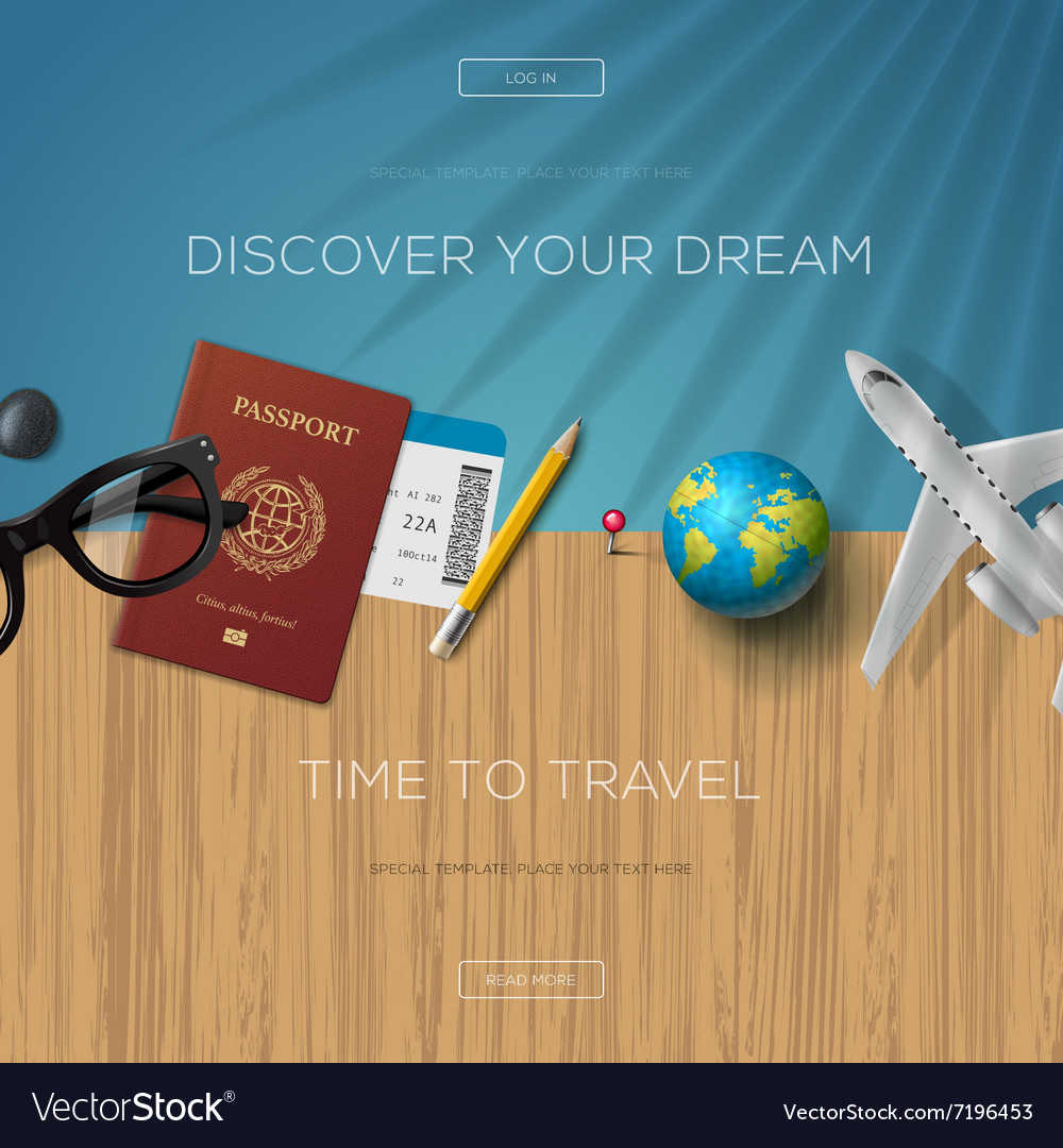 Tourism website template time to travel