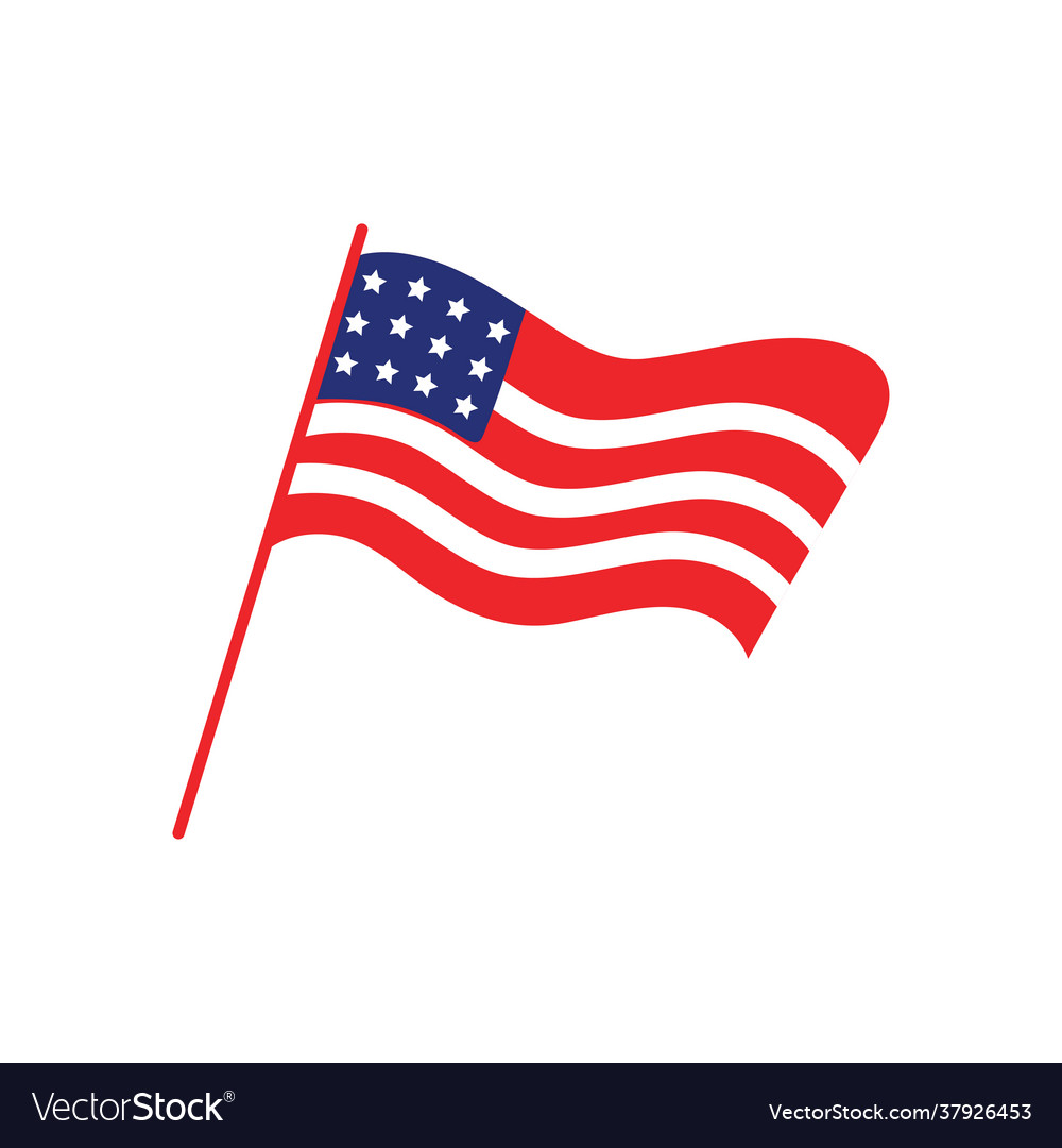 Usa flag icon design template isolated
