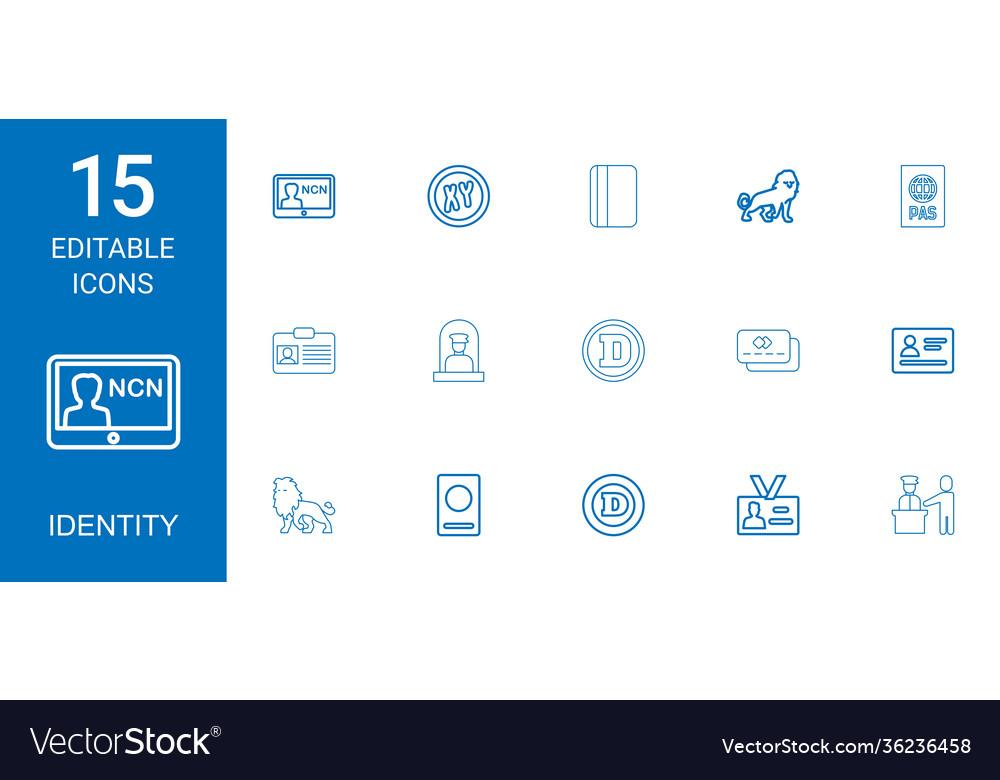 15 identity icons