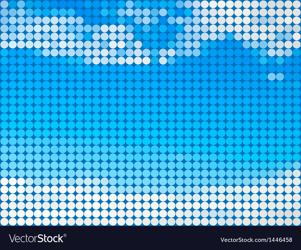 Abstract sky round tile background
