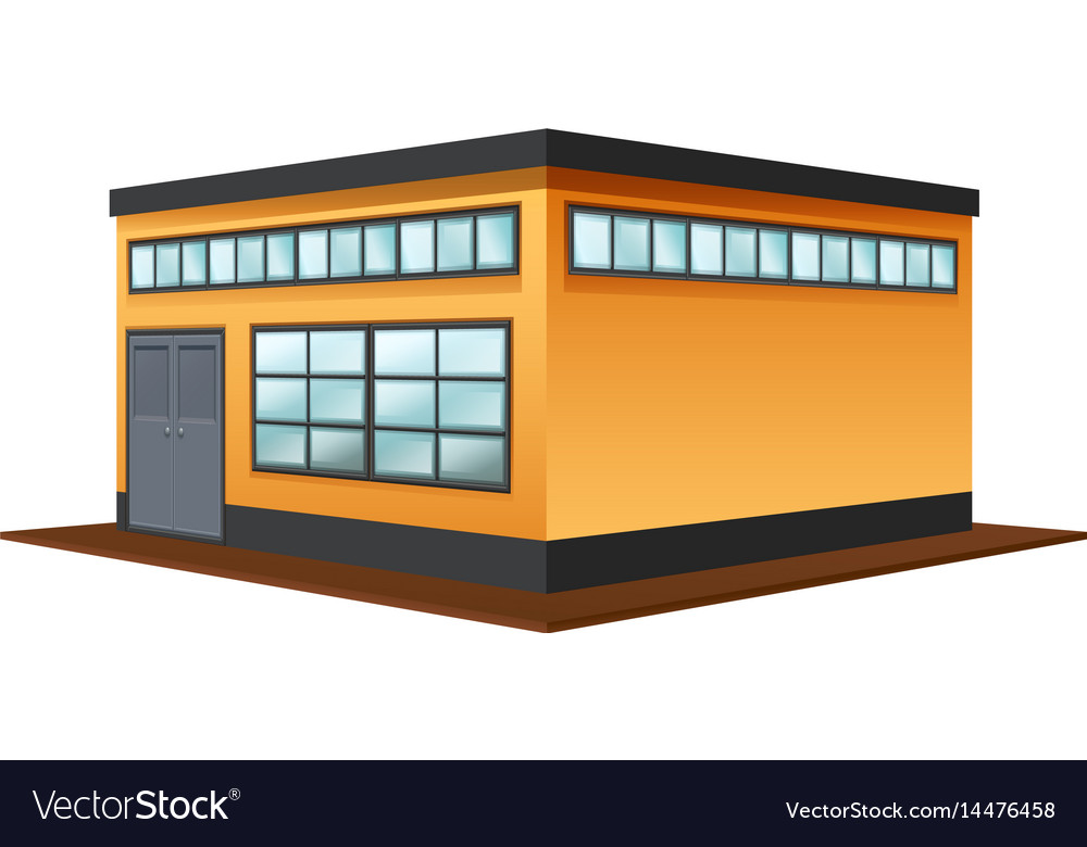 Architecture design for square building vector image