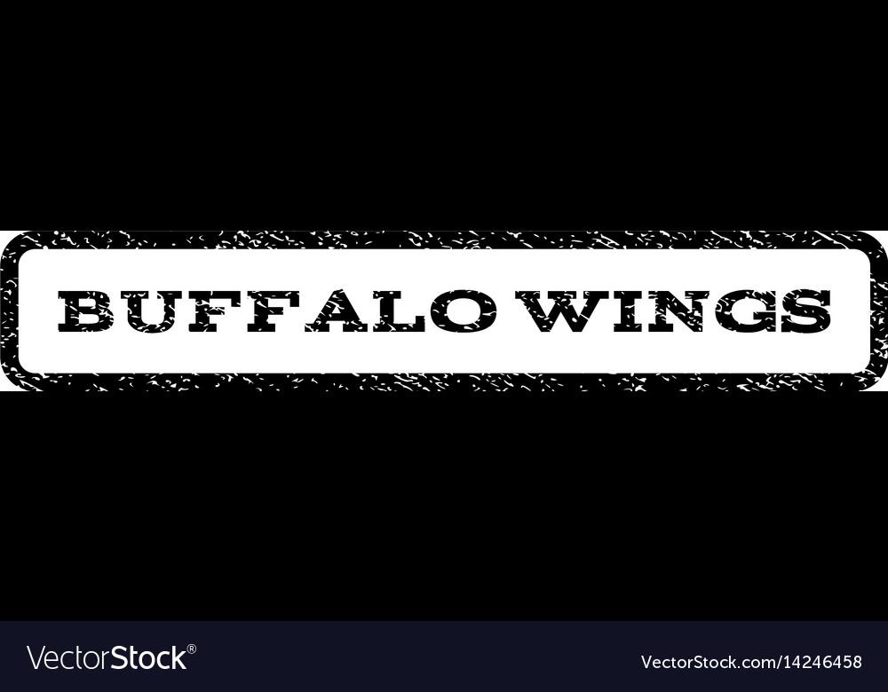 Buffalo wings watermark stamp