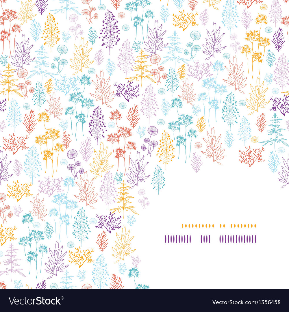 Colorful flowers and plants corner pattern
